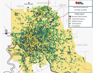 Duke Energy Outage Map   MiddletownUSA.com