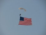 Flag on Skydiver