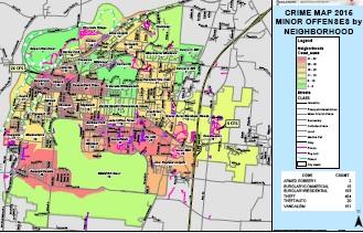 Middletown Major And Minor Crime Maps For 2015 Middletownusa Com