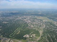 Aerial view of Middletown, Hook Field can be seen in the upper right